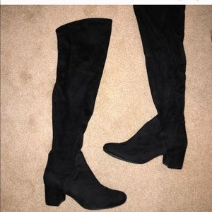 Shoes - Black suede high knee boot!!!!!!